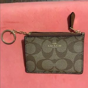 mini skinny coach wallet